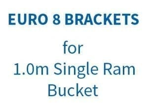 Euro 8 Brackets (for 1.00m Single Ram Bucket)