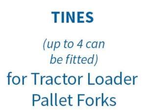 TINES for Tractor Loader Pallet Forks on Euro 8 Bracket